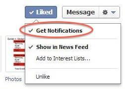 Facebook - Get Notifications